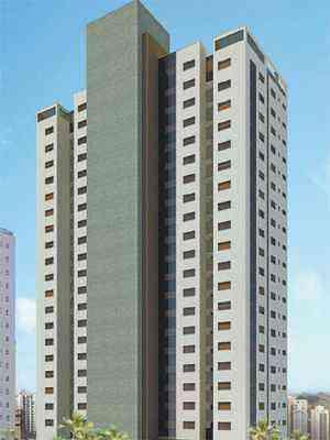 Croqui da fachada do Green Tower Tennis Residence, aposta da Concreto no Bairro Vila da Serra, em Nova Lima, na divisa com a capital - CONCRETO/Divulgação
