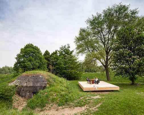A fortificação militar da Segunda Guerra Mundial foi transformada em uma incrível morada de férias
