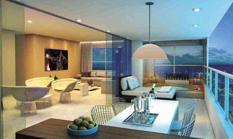 Lançado em 2014 e já em fase avançada, Edifício Olga Chiari apresentou quatro opções de planta para os futuros moradores - Patrimar/Divulgação
