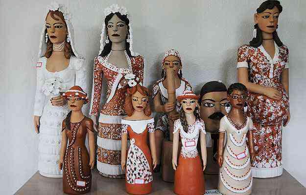 Bonecas do Jequitinhonha dão um toque especial aos ambientes  - Beto Novaes/EM/D.A Press - 08/04/2011