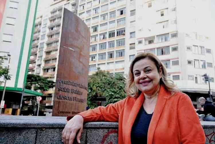 Elizabeth Lino da Silva, professora e residente do Centro de Belo Horizonte, destaca atividades culturais gratuitas como ponto positivo de morar na região - Alexandre Guzanshe/EM/D.A Press
