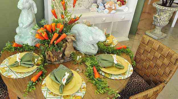 Amadeu Scarpelli explorou suplás temáticos, além de cenouras, galhos e eras artificiais na decoração - Maria Tereza Correia/EM/D.A Press