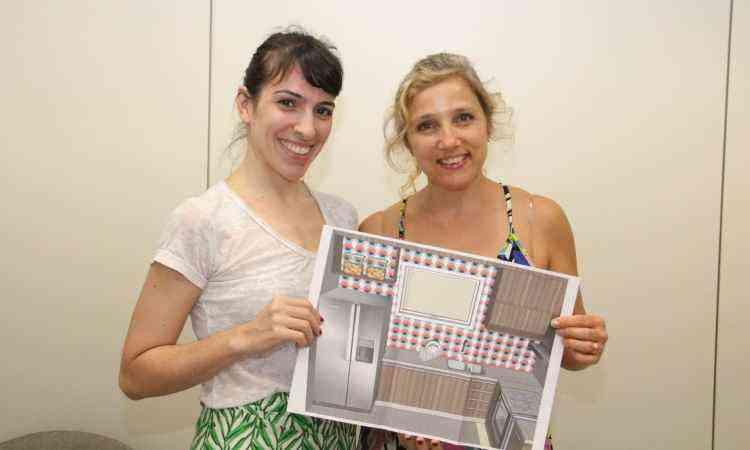 Arquiteta Melina Mundim entregou o projeto pessoalmente à Ana Luíza, já premiada anteriormente pelo Clube A - Sidney Lopes/EM/D.A Press