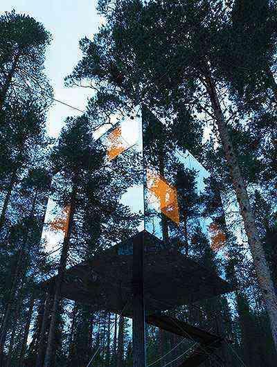 Hotel na árvore na Suécia - Åke Eson Lindman/Divulgação