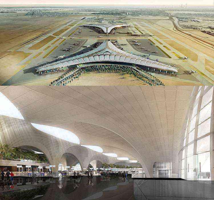 Aeroporto Internacional do Kuwait - Foster - Partners/Divulgação