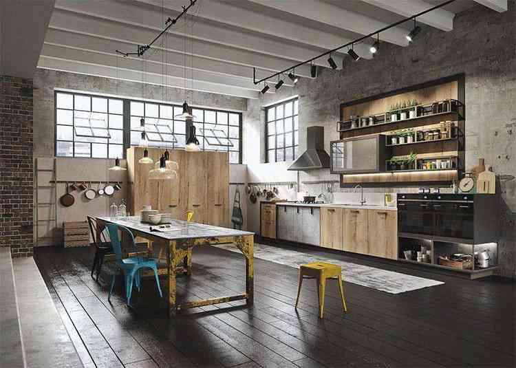 Cozinha estilo industrial - Pinterest
