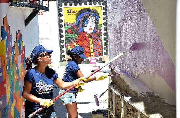 A laje do Michael Jackson também foi adotada pelo projeto - Tintas Coral/Divulgação
