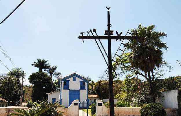 Igreja de São Sebastião, no centro da cidade: ar bucólico atrai turistas e moradores - Paulo Filgueiras/EM/D.A Press