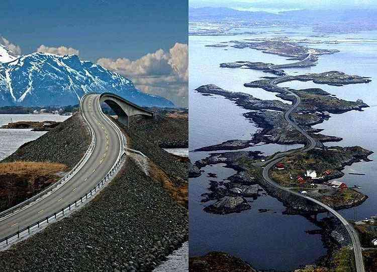 Atlantic Ocean Road, na Noruega - Reprodução/Internet