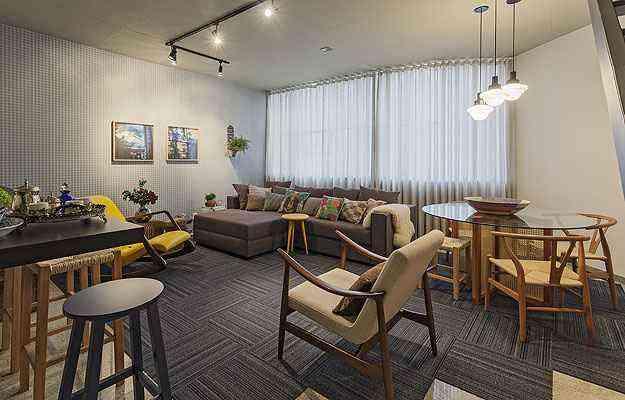 Bom planejamento decorativo dá personalidade ao apartamento alugado sem mudanças estruturais - Henrique Queiroga/Divulgação