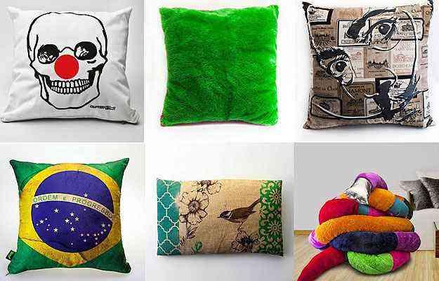 A loja virtual tem uma grande diversidade de almofadas e travesseiros, com preços que variam entre R$ 49,90 até R$ 200  - Divulgação