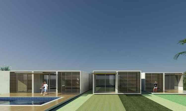 Projeto de residência pré-fabricada da Laminus Engenharia destaca o alto padrão  - BCMF Arquitetos/Divulgação