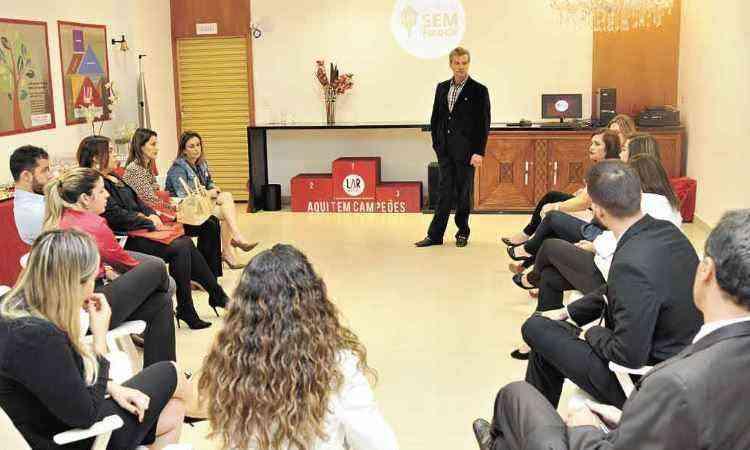 Presidente da Lar Imóveis, Luiz Antônio Rodrigues lançou na segunda-feira a campanha 'Alugue sem fiador' - Juarez Rodrigues/EM/D.A Press