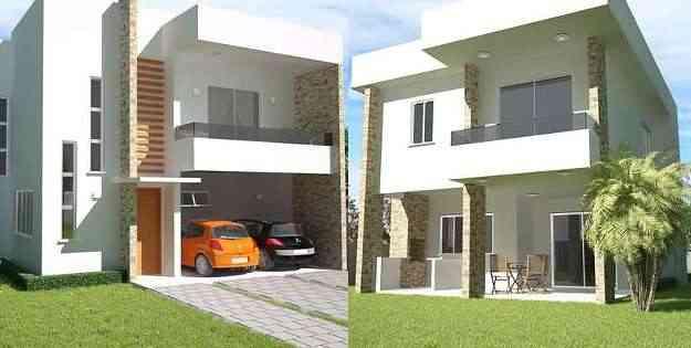 Plano de sobrado com três quartos e varanda gourmet à venda por R$ 519 na Soprojetos - Soprojetos/Divulgação