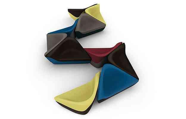 Poltronas Seating Stones inspiradas na natureza - Link Comunicação/Divulgação