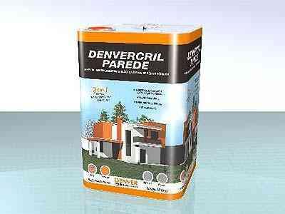 Tinta impermeabilizante para fachadas é à base de resina acrílica e tem alta durabilidade, segundo o fabricante - Divulgação Denver