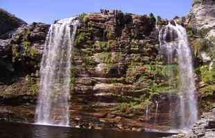 Cachoeira do Bicame, na Lapinha da Serra, Serra do Cipó, no município de Santana do Riacho