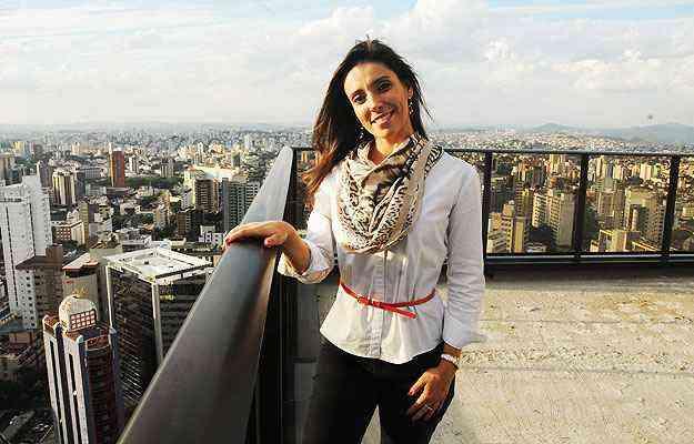 Adriana Bordalo, diretora comercial e de relacionamento do Grupo RKM, destaca que a cobertura linear é a mais procurada e valorizada  - Cristina Horta/EM/D. A Press - 7/5/13