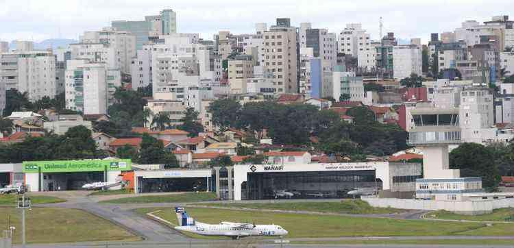 Aeroporto da Pampulha teve operações com aviões de grande porte suspensas há alguns anos, mas elas podem voltar em breve - Beto Novaes/EM/D.A Press