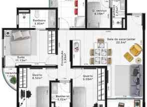 Apartamento, 3 Quartos, 1 Vaga, 1 Suite em Quadra 208, Sul, Águas Claras, DF valor de R$ 698.000,00 no Lugar Certo