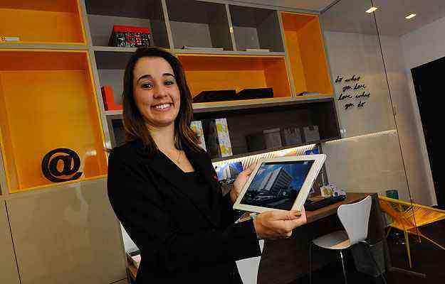 Patrícia Freitas, coordenadora de marketing do Grupo Somattos: tecnologia ajudou na velocidade de comercialização de um edifício  - Euler Júnior/EM/D.A Press