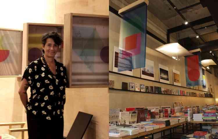 Exposição da designer e fotógrafa Geo Victor: composições que exploram a sobreposição de cores e formas - Ana Paula Horta/Divulgação