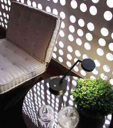A Sala do Cobogó é um convidativo ambiente social que renovou a área de serviço inicial  - Joana Gontijo/EM/D.A Press