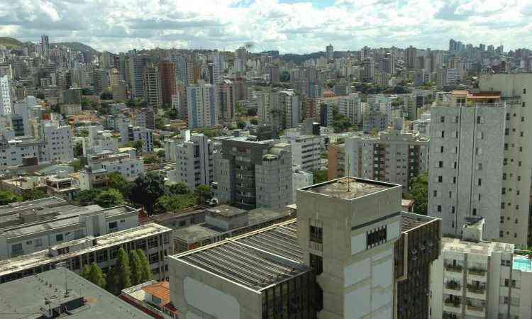 Vista do bairro, com destaque para o Mercado Distrital e o Clube Ginastico - Renato Weil/EM/D.A Press - 19/02/2009