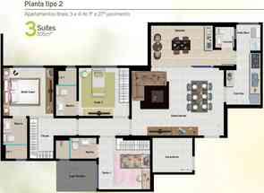 Apartamento, 3 Quartos, 2 Vagas, 3 Suites em Parque Lozandes, Goiânia, GO valor de R$ 428.555,00 no Lugar Certo
