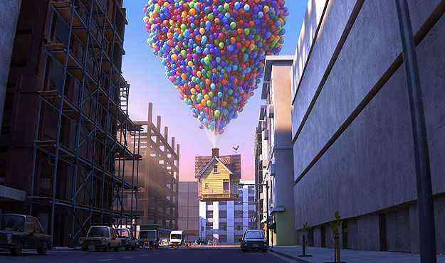 Assim como Carl Fredricksen, personagem do desenho, a senhora também mantinha um forte apego emocional à casa - Pixar/Divulgação