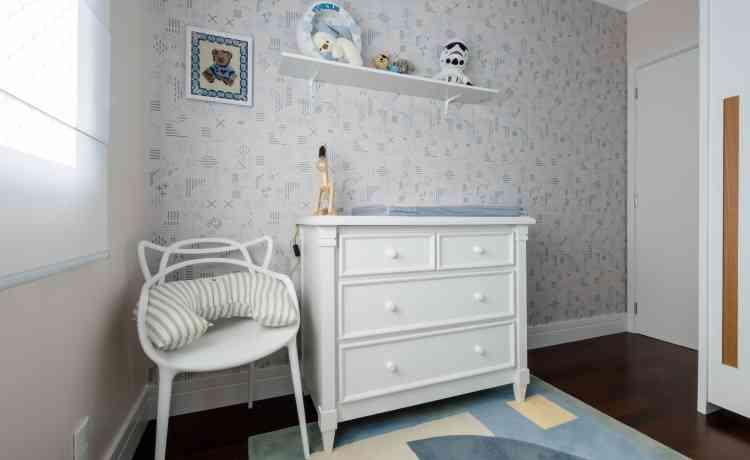 No quarto infantil, a estampa não deve ter excesso de cores e desenhos para não brigar com os elementos lúdicos - Nathalie Artaxo/Divulgação