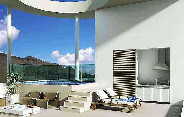 Perspectiva da cobertura tipo top house no condomínio Vila Grimm, no Vale dos Cristais, em Nova Lima - Perspectiva/Divulgação