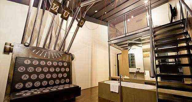 O último andar abriga nove lofts inspirados em robôs e monstros - Wanderlust/Reprodução