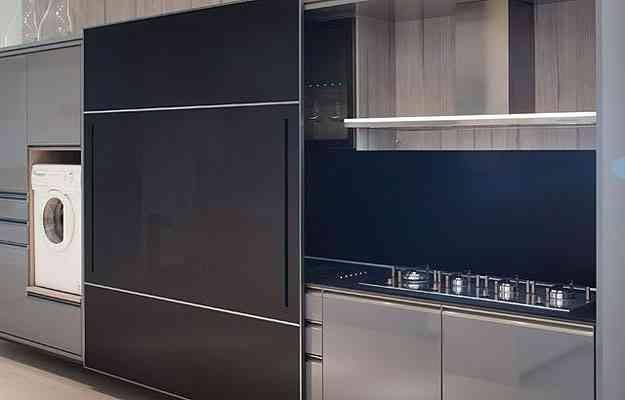 Com o aproveitamento da altura da parede também foi possível criar uma lavanderia vertical - Exata Comunicação/Divulgação