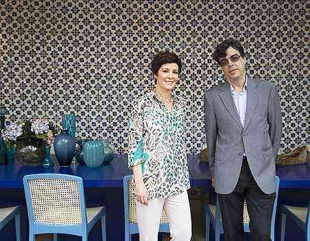 Edwiges Leal e Eduardo Begiato mostram um ambiente colorido e alegre que valoriza a arquitetura - Thiago Ventura/EM/D.A Press