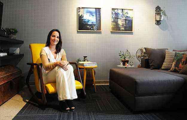 Para a arquiteta Marina Dubal, mesmo que seja um apartamento alugado, ter uma casa confortável, onde o morador se sinta bem, é essencial - Cristina Horta/EM/D.A Press