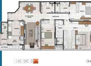 Apartamento, 3 Quartos, 2 Vagas, 2 Suites em Sqnw 103, Noroeste, Brasília/Plano Piloto, DF valor de R$ 1.690.000,00 no Lugar Certo