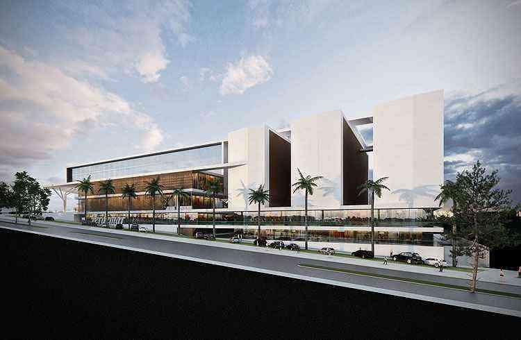 Empreendimento do Grupo EPO em Lagoa Santa terá 30 mil metros quadrados, com apartamentos residenciais, salas e shopping - Perspectiva/Grupo EPO/Divulgação