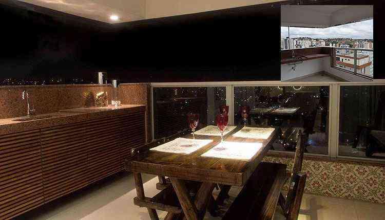Arquiteta Ivana Seabra deu um toque especial à varanda com as modificações propostas - Célio Diniz/Divulgação