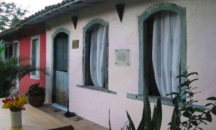 Casas do quadrado de Trancoso tem placas com a historia dos antigos moradores - Marlyana Tavares/EM/D.A Press