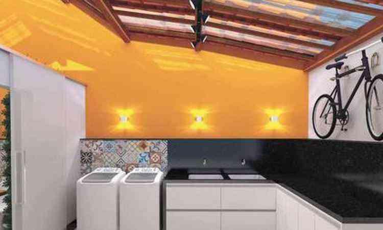 Imagens do projeto desenvolvido pela arquiteta Ana Carolina Matos, que contempla um espaço gourmet, lavanderia e área zen - Perspectiva/Divulgação