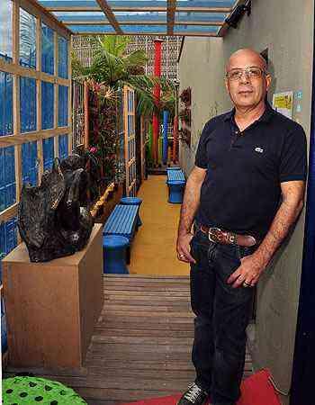 Reinaldo Saturnino levou para a Morar Mais por Menos em BH o ambiente Terraço das Heras, um convite aos momentos de descontração em ambientes corporativos - Eduardo de Almeida/RA Studio