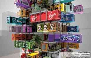 Arquitetos querem construir hotel com mais de 14 andares totalmente feito com contêineres. Projeto de escritório chinês dá nova dimensão a tendência mundial e é aposta para ganhar prêmio da área