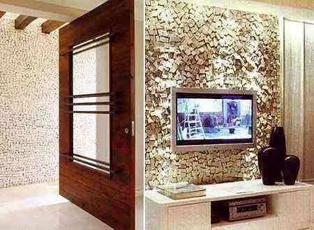 Revestimentos em pedra são duráveis, de fácil instalação e conferem uma clima rústico à casa - Reprodução/Internet