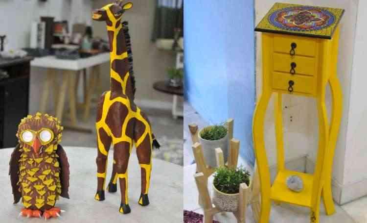 Peças artesanais criativas para compor os ambientes são destaque  - Juarez Rodrigues/EM/D.A Press