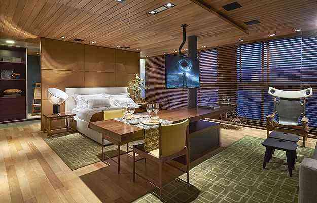 No Apartamento do Executivo, de David Guerra, fluidez e integração em um ambiente sem paredes - Jomar Bragança/Divulgação