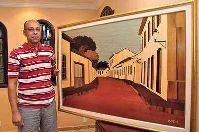 O artista Luiz Henrique de Assis diz que esse tipo de trabalho surgiu mais de 3000 anos a.C e já foi encontrado em pirâmides e templos egípcios - Eduardo Almeida/RA Studio