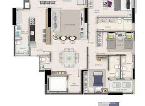 Apartamento, 3 Quartos, 3 Vagas, 3 Suites em Setor Bueno, Goiânia, GO valor de R$ 843.000,00 no Lugar Certo