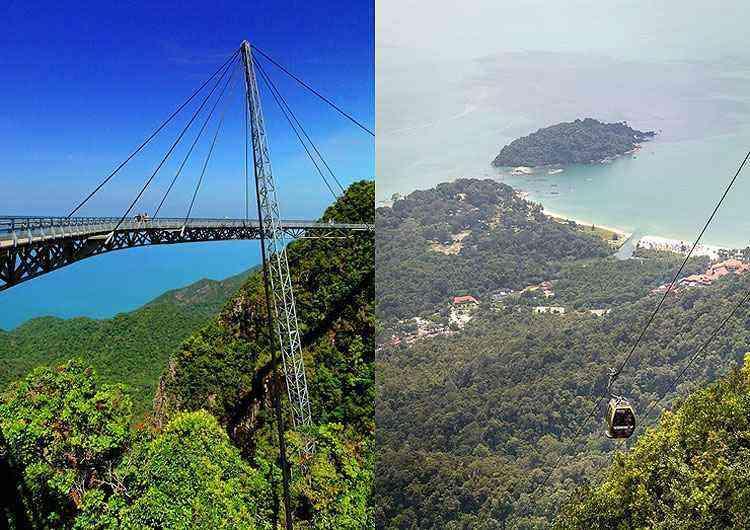 Langkawi Sky Bridge, na Malásia - Reprodução/Internet