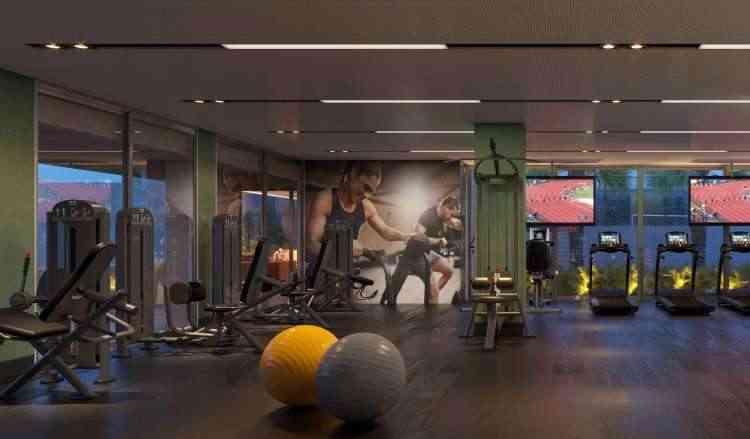 Edifício de alto luxo, o St. Tropez investiu em áreas compartilhadas e academia bem montada - Patrimar Engenharia/Divulgação